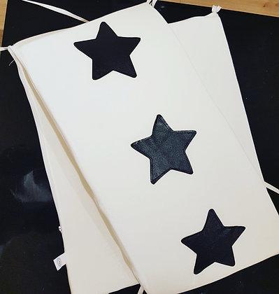 מגן ראש כוכבים שחור לבן