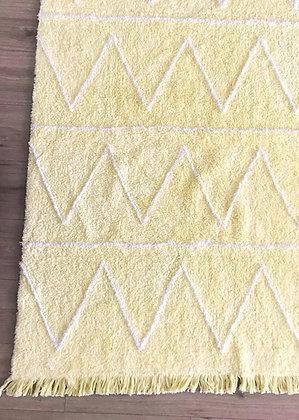 שטיח נורדי צהוב