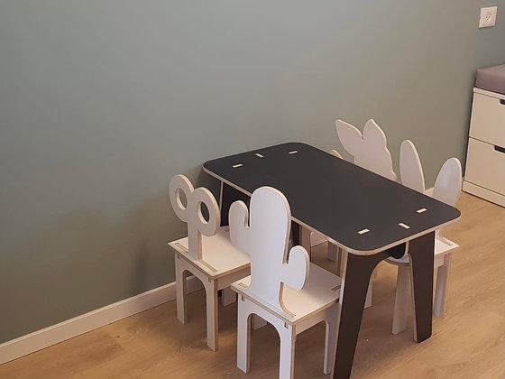 שולחן מלבן אורך 100 סמ