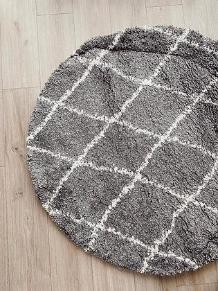 שטיח נורדי אפור לבן