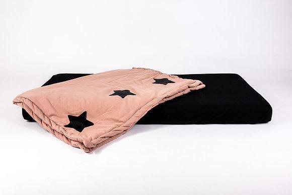 סט מצעים כוכבים ורוד - מיטת תינוק