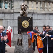 Unveiling of Yousuf Karsh monument