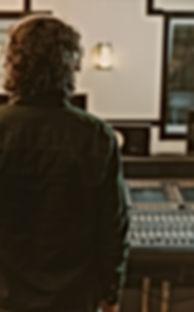 Homem, em, estúdio