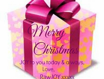 Happy … relaxed Christmas from RawJOY