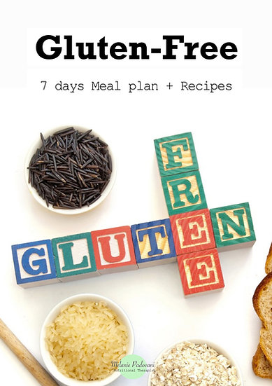 Gluten Free - 7 day meal plan