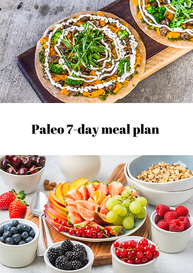 Paleo 7-day meal plan