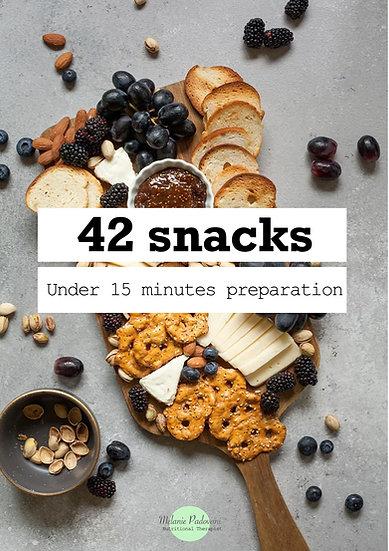 42 snacks recipes