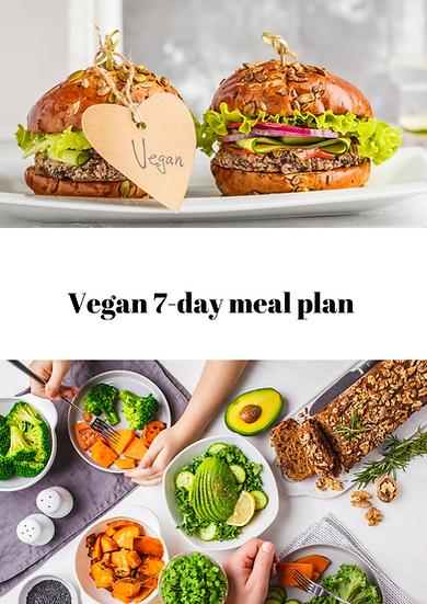 Vegan 7-day meal plan