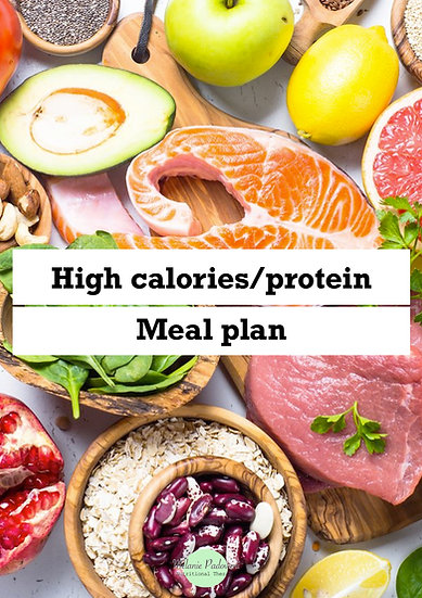 High calories and protein meal plan