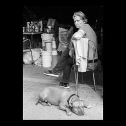 Bushwick Woman With Dog