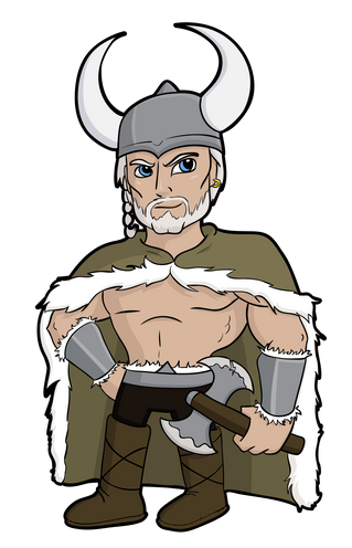 Vector Viking Mascot
