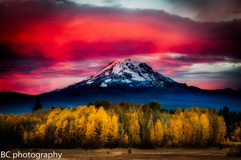 Mt Adams Color Eruption