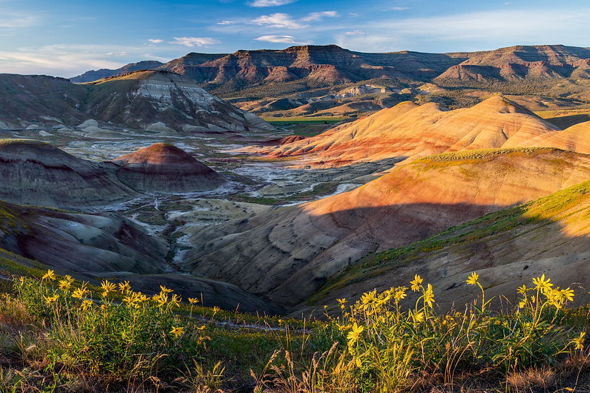 Painted Hills- Late afternoon