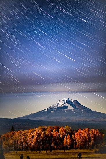 Mt Adams falling stars