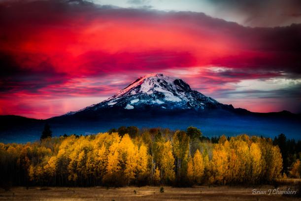 Mt Adams Color Eruption