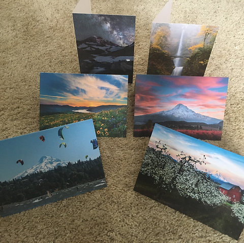 6 mixed photo cards- Note images received may be different from above image.