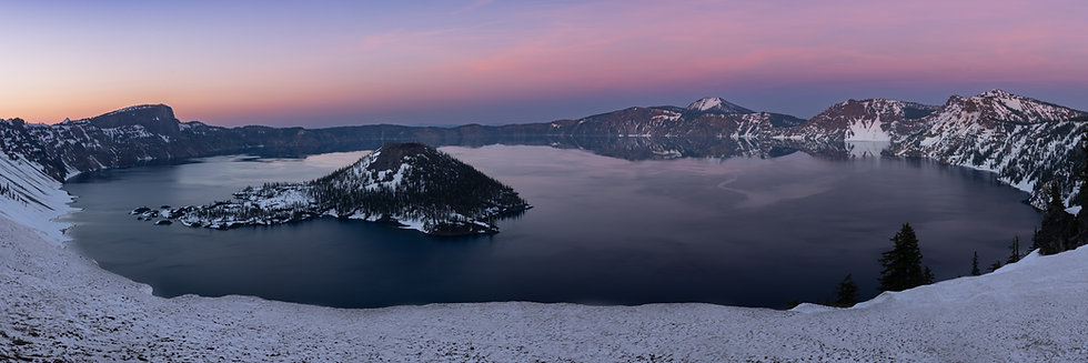 Crater Lake Sunset