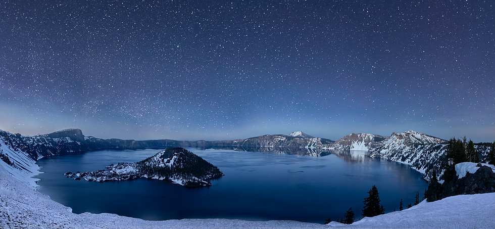 Crater Lake star night