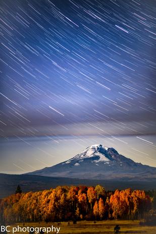 Falling Stars Mt Adams