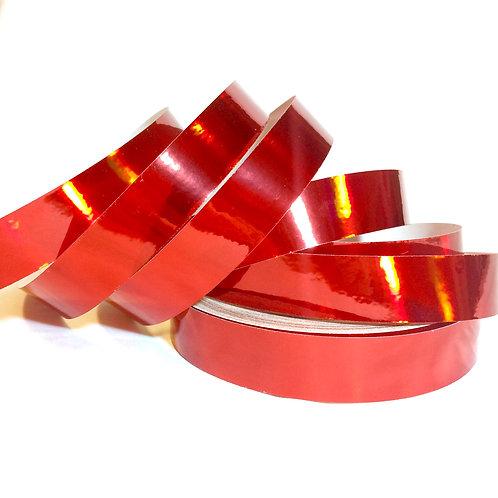 Ruby Red Rainbow Taped Hoop