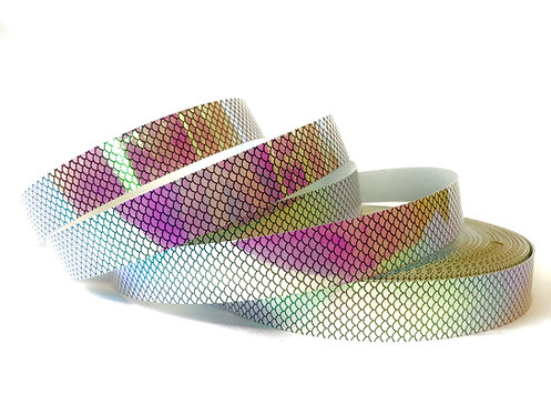 Pink Fish Scale Color Shifting Taped Hoop