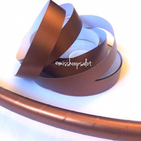Bronze Satin Luster Taped Hoop