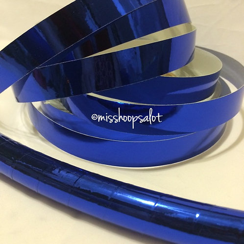 Royal Blue Mirror Taped Hoop