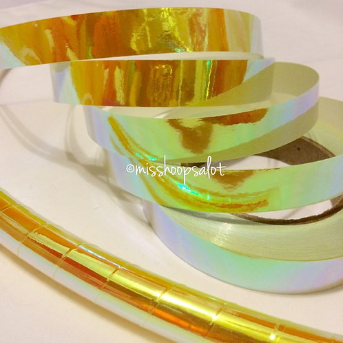 Citron Color Shifting Taped Hoop