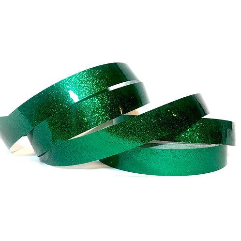 Emerald Green Glitter Flake Taped Hoop