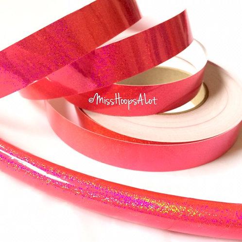 Fluorescent Pink Sequin Taped Hoop