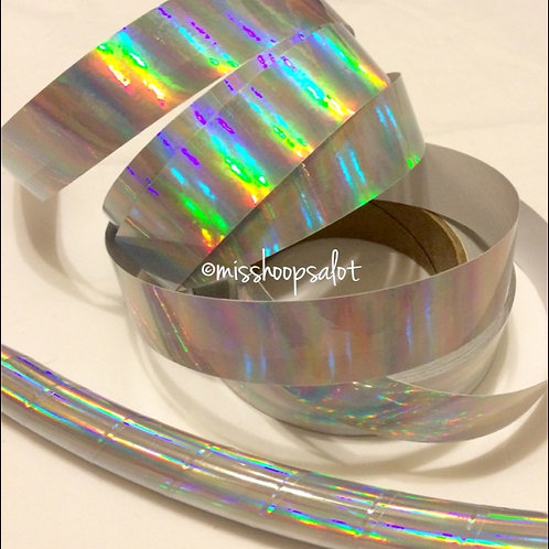 Silver Rainbow Taped Hoop