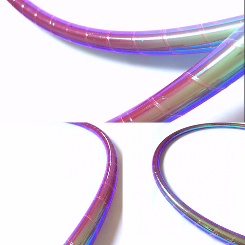 """Mermaid Scale """"Unicorn"""" Color Shifting Taped Hoop"""