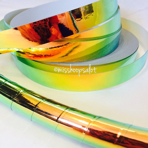 Harvest Peach Color Shifting Taped Hoop