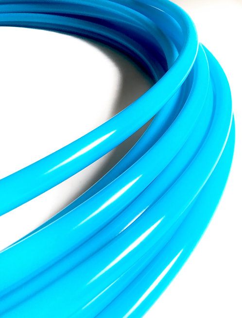 "READY TO SHIP: 23"" 3/4"" Bioluminescent Blue Glossy Polypro Hoop"