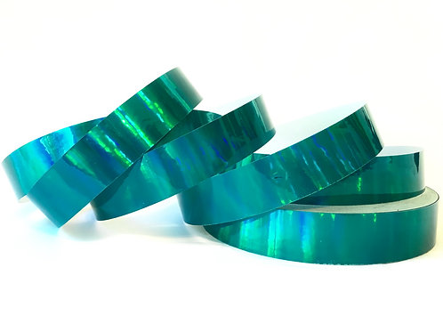 Teal Rainbow Taped Hoop