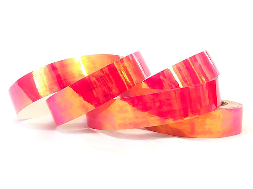 Pink Guava Color Shifting Taped Hoop