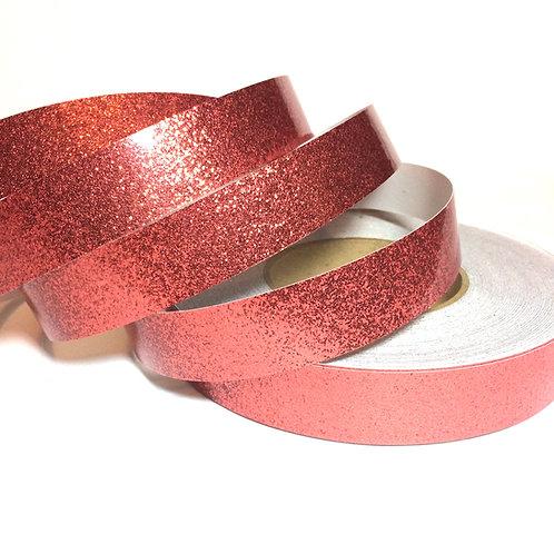 Dusty Rose Glitter Flake Taped Hoop