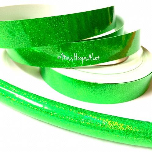 Fluorescent Green Sequin Taped Hoop