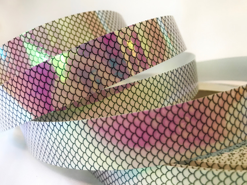 Pink Fish Scale Taped Hoop