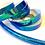 Thumbnail: Aquatic Blue Color Shifting Taped Hoop