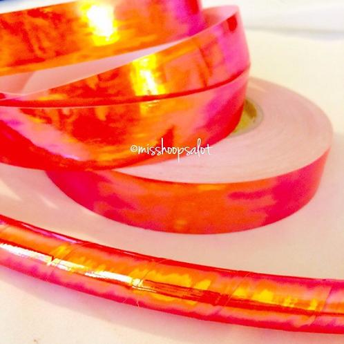 UV Atomic Orange Taped Hoop