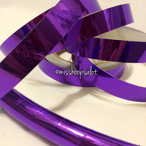 Purple Mirror Taped Hoop