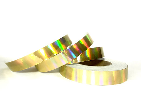 Metallic Gold  Rainbow Taped Hoop