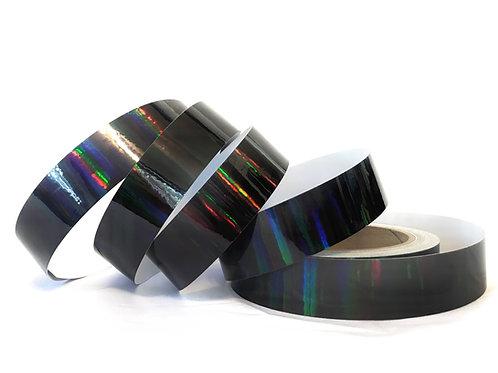 Black Rainbow Taped Hoop