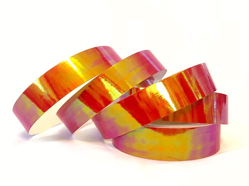 Fire Red Opalescent Taped Hoop