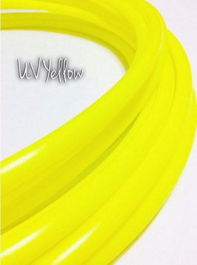 "READY TO SHIP: 36"" 3/4"" UV Yellow Polypro Hoop"