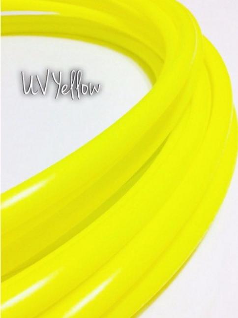 "READY TO SHIP: 19"" 1/2"" UV Yellow Polypro Hoop"