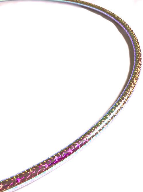 Fire Opal Cateye Taped Hoop