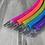 Thumbnail: UV Glossy 5 Piece Rainbow Sectional Travel Hoop