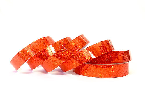 Fluorescent Orange Sequin Taped Hoop